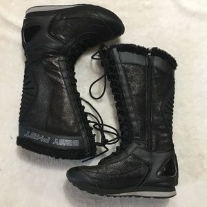 Baby Phat Infinity Vintage Lace Up Boots Size 7